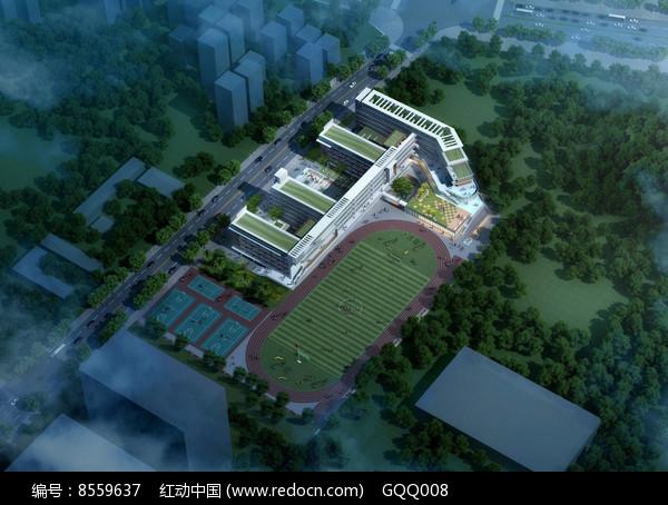 学校规划设计整体鸟瞰图片