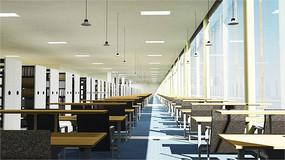 学校图书馆室内效果图