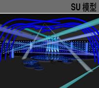 演艺演出舞台SU模型 skp