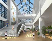 幼教中心共享展厅透视图