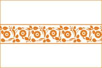 中式腰花装饰图案