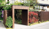 住宅入户大门围墙景观