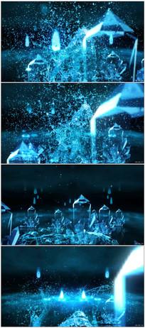 超震撼唯美水花溅起舞台视频