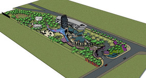 带状公园设计模型