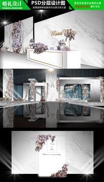 大理石花纹主题婚礼设计