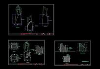 大型雕塑施工图