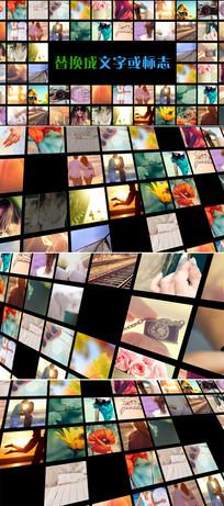 多照片展示logo演绎模板