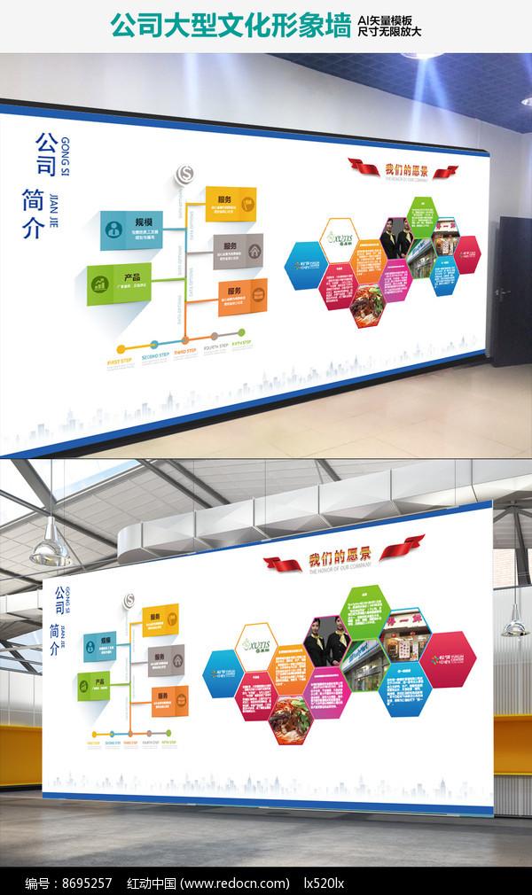 企业大气立体办公室文化墙图片