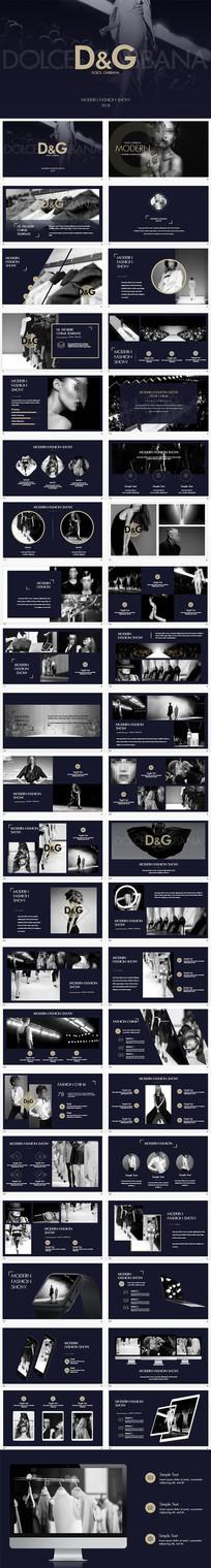 奢侈品D&G服装发布会PPT模板