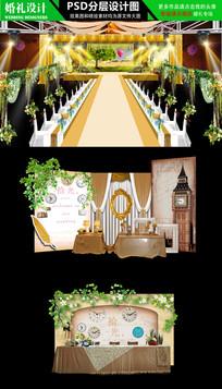 时光复古森系婚礼效果图