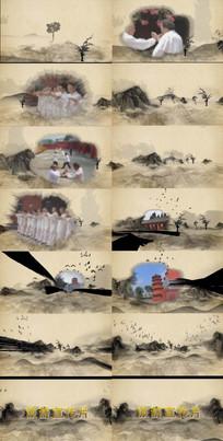 水墨片头中国风AE模板