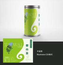 台湾梨山茶茶叶标签设计