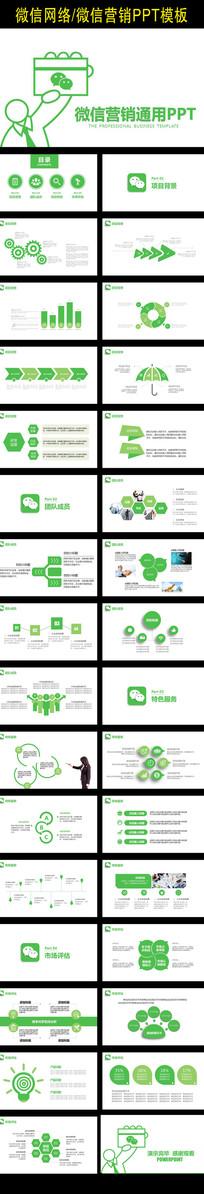 微信网络营销简洁PPT模板