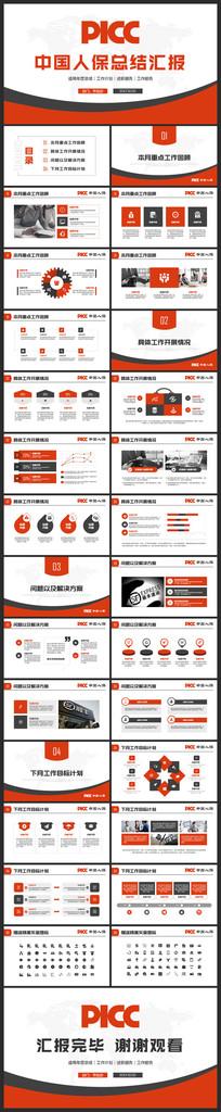 中国人民财产保险PPT模板