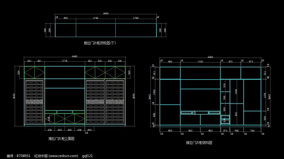 素材描述:红动网提供室内装修精品原创素材下载,您当前访问作品主题是单身公寓衣柜结构设计图,编号是8708951,文件格式是CAD,建议使用AutoCAD 2007及以上版本打开文件,您下载的是一个压缩包文件,请解压后再使用设计软件打开,色彩模式是RGB,,素材大小 是77.68 KB。