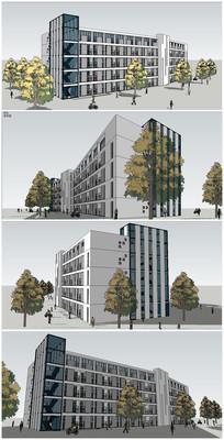 大学学生公寓楼SU模型