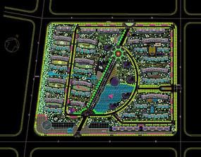 地产绿化平面图 dwg