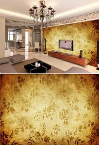 复古怀旧花纹底纹背景墙