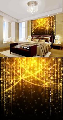 金色星光霓虹灯背景墙