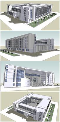 某大学行政楼建筑SU模型