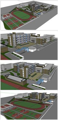 某校园整体规划SU模型