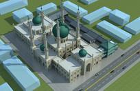 清真寺3D模型