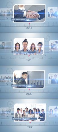 企业发展历程时间线ae模板
