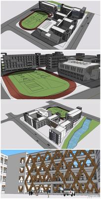 外国语小学建筑SU模型