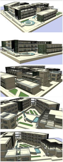 武汉某校园建筑SU模型