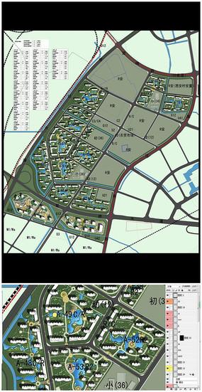 小区整体规划PSD分层素材