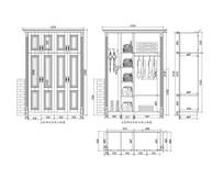 衣柜书柜和 鞋柜CAD图纸