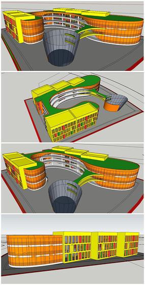 幼儿园建筑SU模型