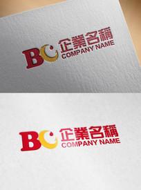 B字母月亮形象涂料产品标志