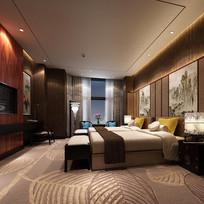 宾馆房间3d模型