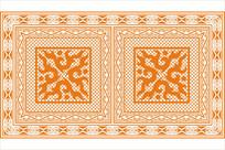 传统花边纹雕刻图案