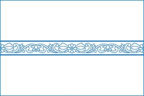 传统卷草花纹移门图案