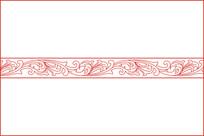 传统卷草纹移门图案