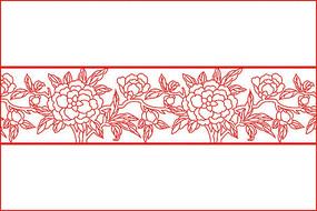 传统牡丹花移门图案