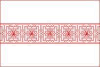福字窗格纹移门图案