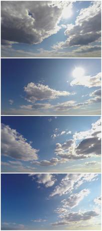 高清漂亮的蓝天白云延时摄影