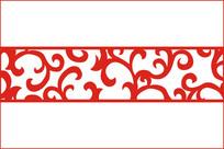 古典卷草纹移门图案