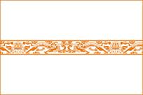 古典云龙纹装饰图案 CDR