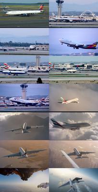 国际机场飞机滑翔飞机起飞