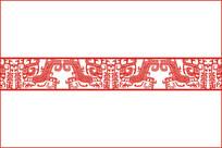 汉代青铜纹腰花移门图案 CDR