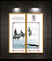 江南春水乡装饰画