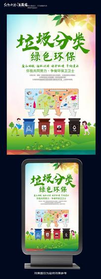 简约垃圾分类公益海报设计