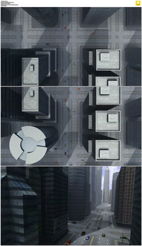 鸟瞰城市交通三维视频素材
