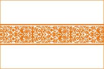 欧式复古花草纹移门图案