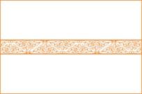 欧式古典卷草纹移门图案