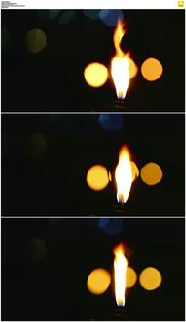 燃烧的火炬实拍视频素材